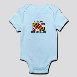 Born and Raised Maryland Body Suit