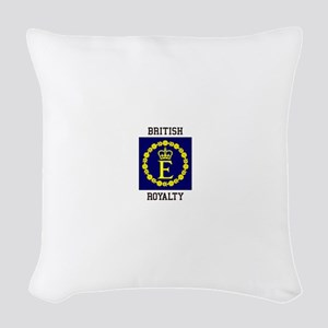 British Royalty Woven Throw Pillow