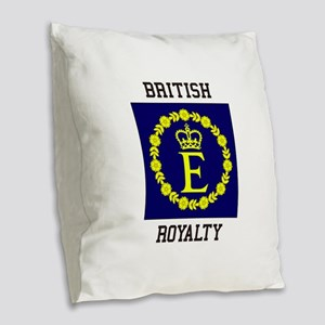 British Royalty Burlap Throw Pillow