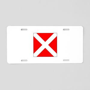 "Allied Flag Number ""4"" Aluminum License"