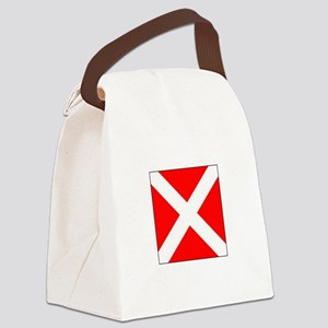 """Allied Flag Number """"4"""" Canvas Lunch Bag"""