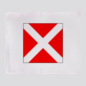 """Allied Flag Number """"4"""" Throw Blanket"""