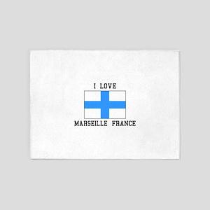 I Love Marseille 5'x7'Area Rug