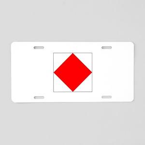 "ICS Flag Letter ""F"" Aluminum License Pla"