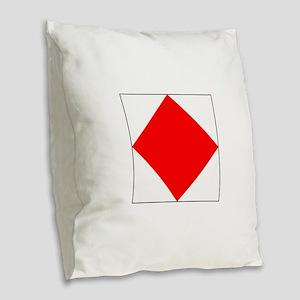"ICS Flag Letter ""F"" Burlap Throw Pillow"