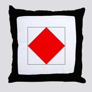 "ICS Flag Letter ""F"" Throw Pillow"