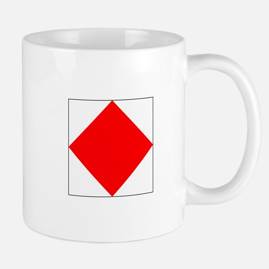 "ICS Flag Letter ""F"" Mugs"