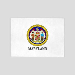 Maryland Seal 5'x7'Area Rug