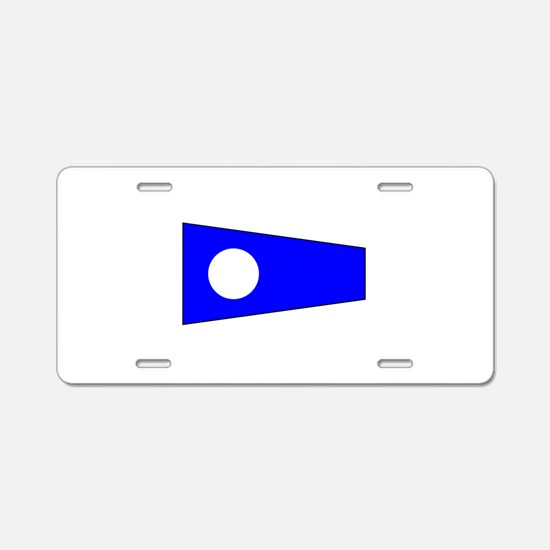 Pennant Flag Number 2 Aluminum License Plate
