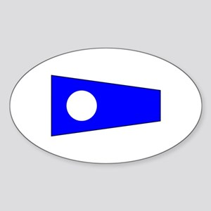 Pennant Flag Number 2 Sticker