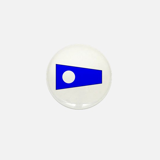 Pennant Flag Number 2 Mini Button