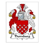 Thornburg Family Crest Small Poster