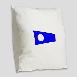 Pennant Flag Number 2 Burlap Throw Pillow