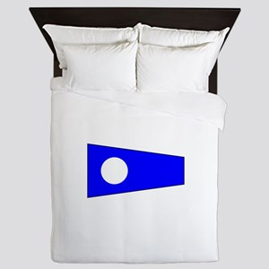 Pennant Flag Number 2 Queen Duvet
