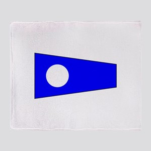 Pennant Flag Number 2 Throw Blanket