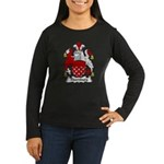 Thornburg Family Crest Women's Long Sleeve Dark T-