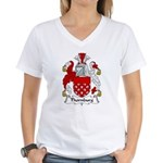 Thornburg Family Crest Women's V-Neck T-Shirt