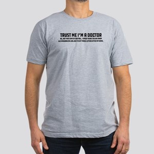 Trust Me I'm a Doctor Men's Fitted T-Shirt (dark)