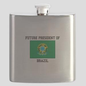 PRESIDENT OF BRAZIL Flask