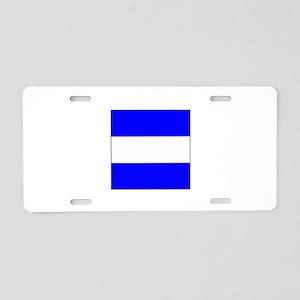 "ICS Flag Letter ""J"" Aluminum License Pla"