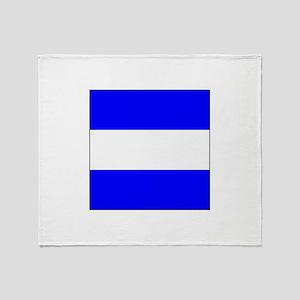 """ICS Flag Letter """"J"""" Throw Blanket"""