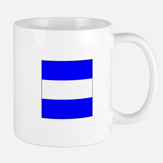 "ICS Flag Letter ""J"" Mugs"