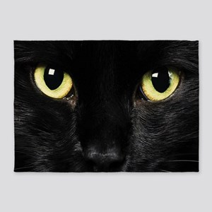 Black Cat 5'x7'Area Rug
