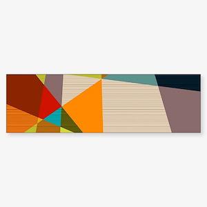 Mid Century Modern Geometric Bumper Sticker