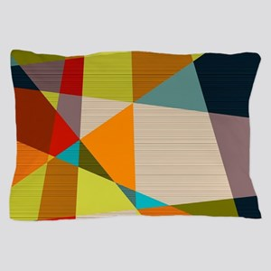 Mid Century Modern Geometric Pillow Case