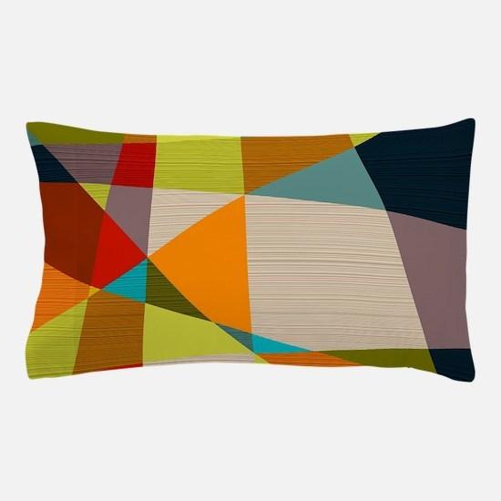 Mid Century Modern Geometric Pillow Case