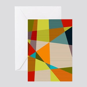 Mid Century Modern Geometric Greeting Cards