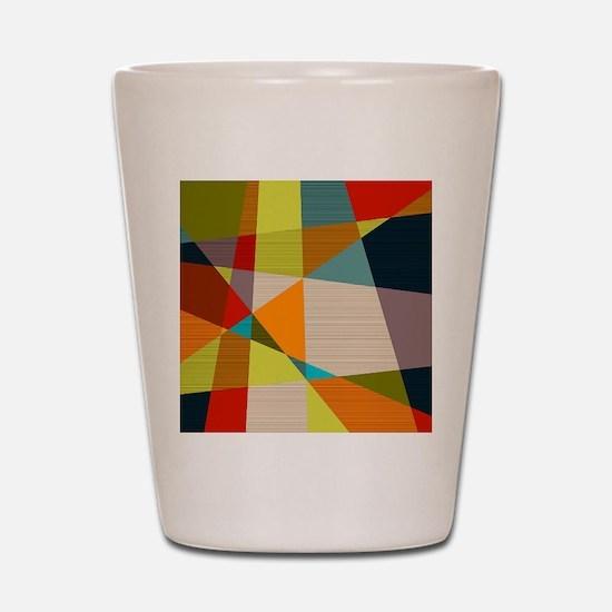 Mid Century Modern Geometric Shot Glass