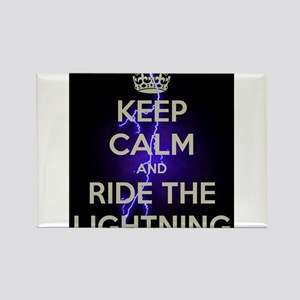 keep calm and ride the lightning Magnets