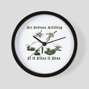 Air Defense Artillery If It Flies It Di Wall Clock