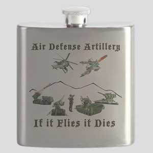 Air Defense Artillery If It Flies It Dies Flask