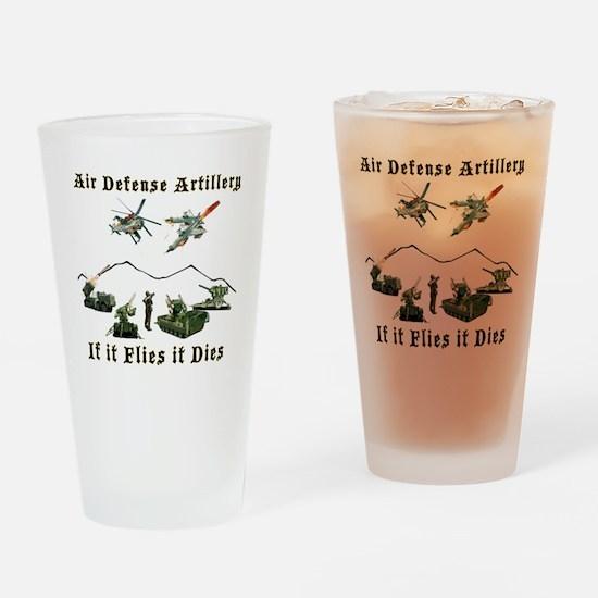 Air Defense Artillery If It Flies I Drinking Glass