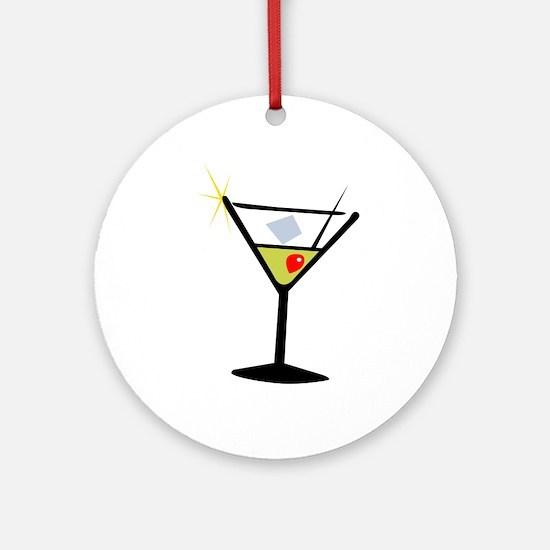 Martini Glass 1 Ornament (Round)