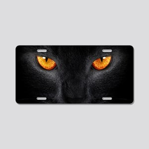 Black Cat Aluminum License Plate