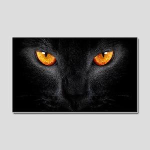Black Cat Car Magnet 20 x 12