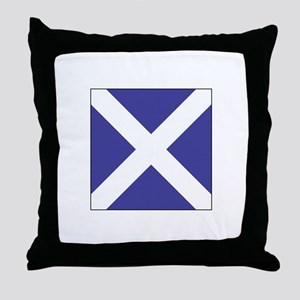 "ICS Flag Letter ""M"" Throw Pillow"