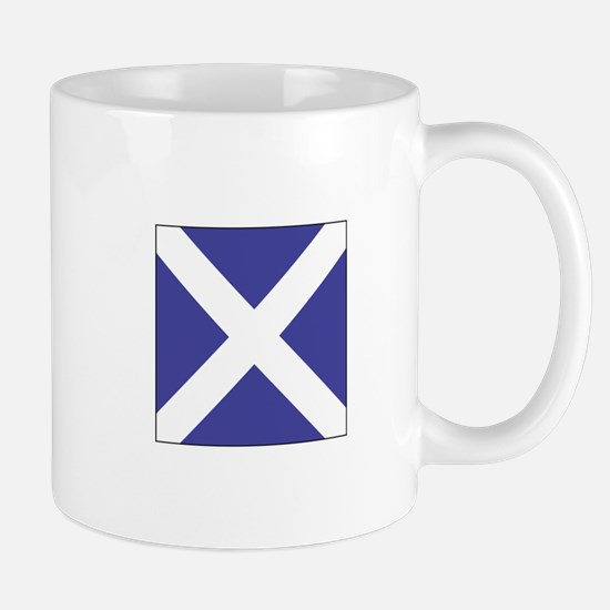 "ICS Flag Letter ""M"" Mugs"
