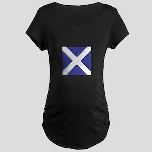 "ICS Flag Letter ""M"" Maternity T-Shirt"