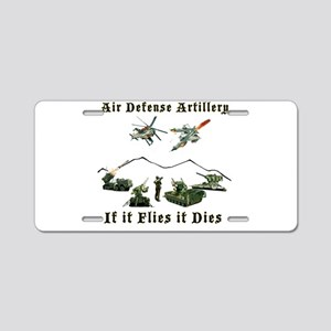 Air Defense Artillery If It Aluminum License Plate