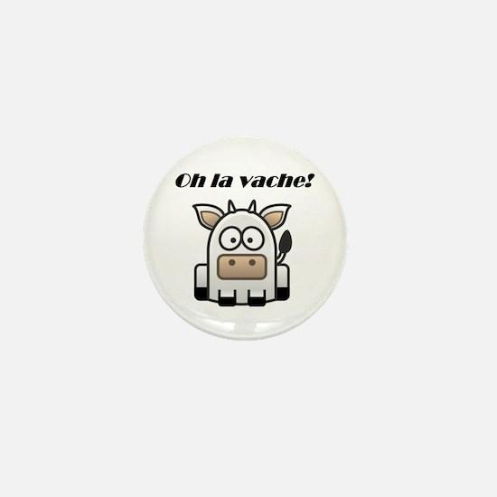 Oh La Vache Mini Button