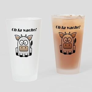 Oh la vache Drinking Glass