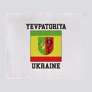 Yevpatoriya Ukraine Throw Blanket