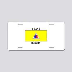 I Love Quezon Aluminum License Plate