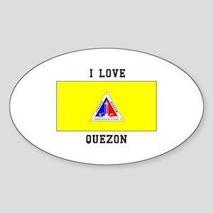 I Love Quezon Sticker