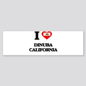 I love Dinuba California Bumper Sticker