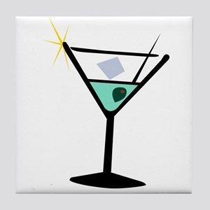 Martini Glass 3 Tile Coaster